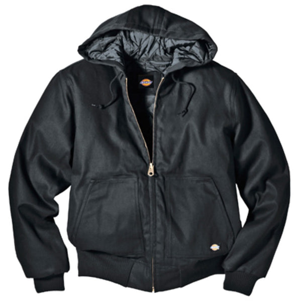 Dickies TJ718BKXL Rigid Duck Hooded Jacket, Black