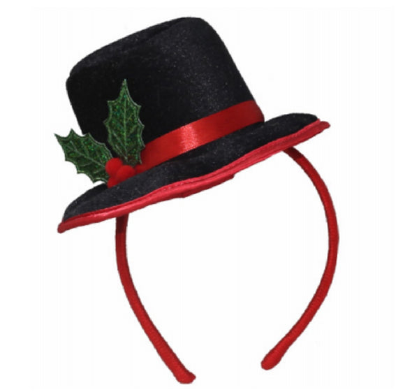 Dyno 0409367-1CC Christmas Top Hat Headband, Polyester, Black
