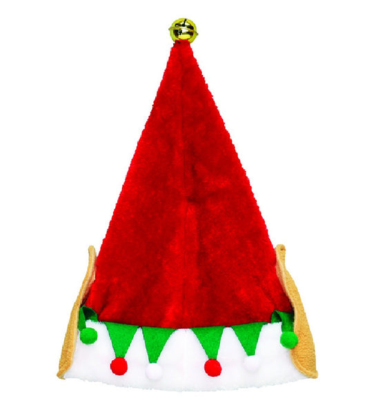 Dyno 0408141-2 Christmas Elf Ear Santa Hat, Plush, 17 inch