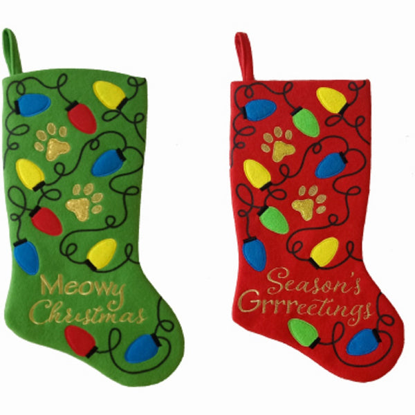 Dyno Seasonal Solutions 1199300CC Fleece Pet Stocking, 19 Inch