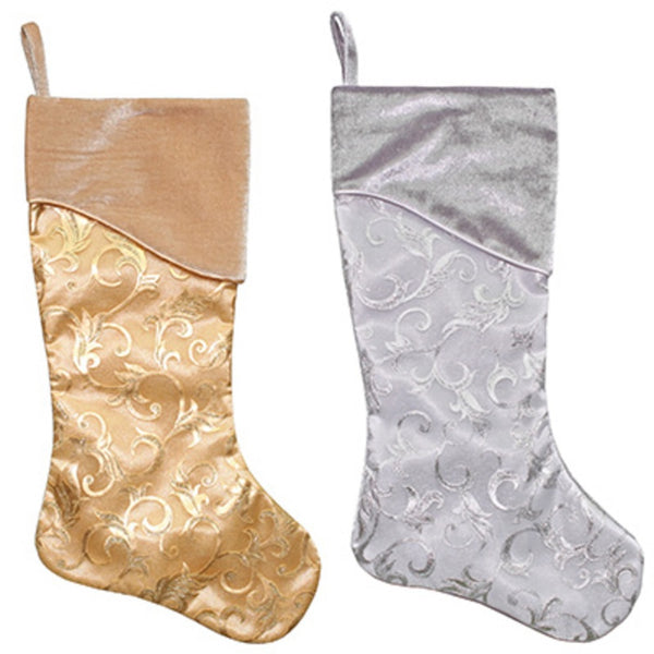 Dyno Seasonal Solutions 1217461CC Satin Christmas Stocking, Assorted Colors