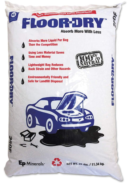 EP Minerals 9825 Floor-Dry Premium All Purpose Absorbent, 25 Lbs