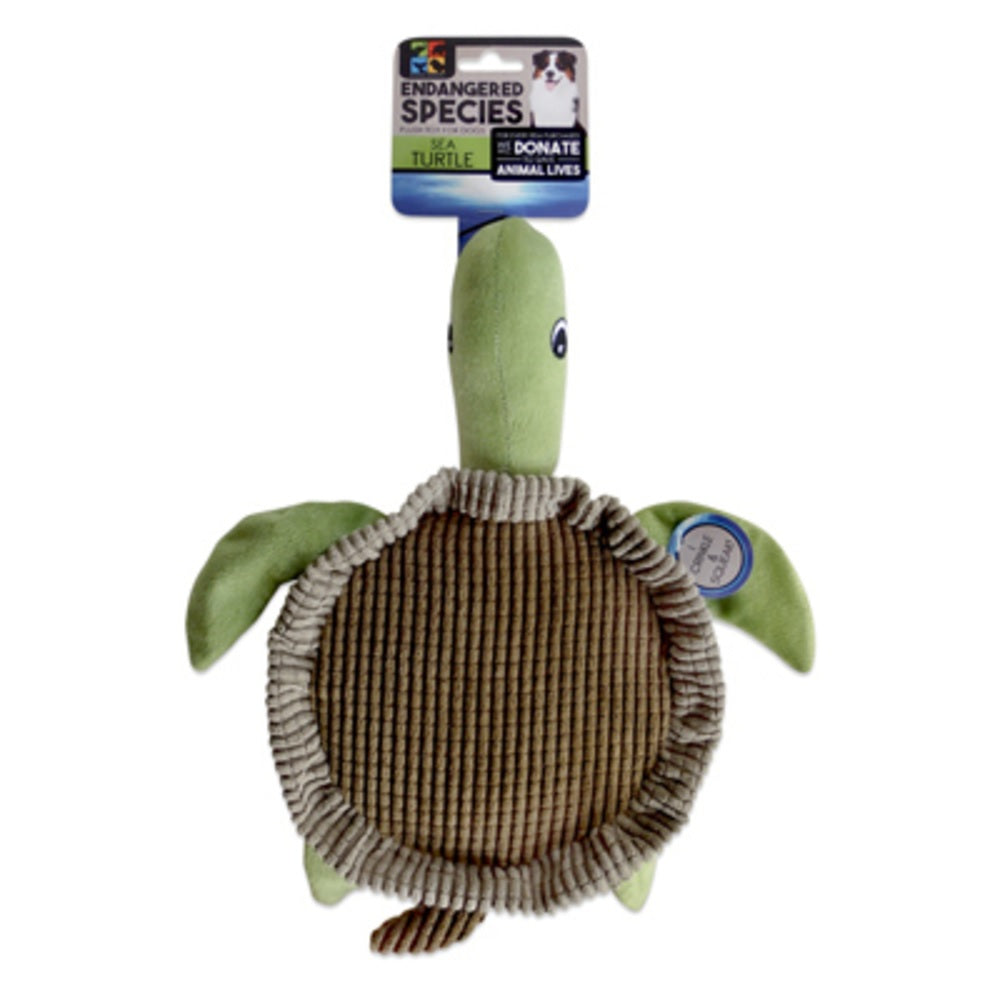 Endangered Species ES16 Sea Turtle Dog Toy With Squeaker