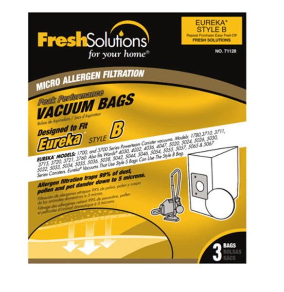 Eureka 71128 B Vacuum Bag, 3 Pack