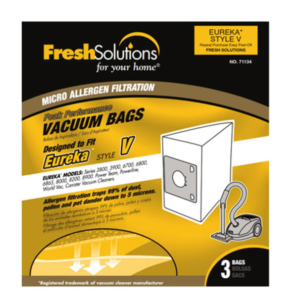 Eureka 71134 V Vacuum Bag, 3 Pack