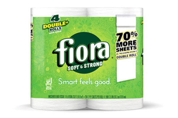 Fiora 21002 Double+ Rolls Bath Tissue, 4 Pack