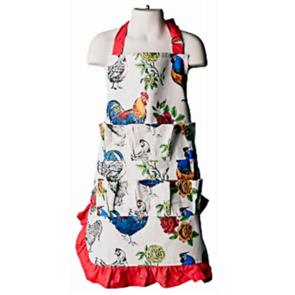 Fluffy Layers ROOFEK12-227 Kids Full Body Egg Collecting Apron