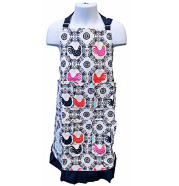 Fluffy Layers ROOFEK12-226 Kids Full Body Egg Collecting Apron