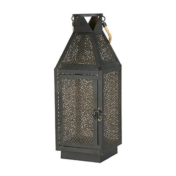 Four Seasons Courtyard 91286 Filigree Lantern, Metal, 16 Inch