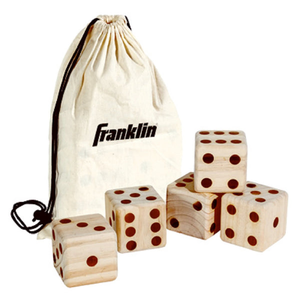 Franklin 52114 Wooden Dice, 6 Piece, 3.5 Inch x 3.5 Inch