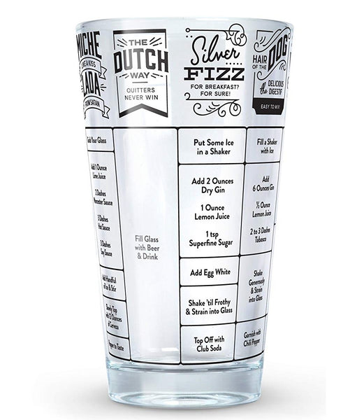 Fred 5186688 Good Measure Hangover Recipe Glass, 16 Oz