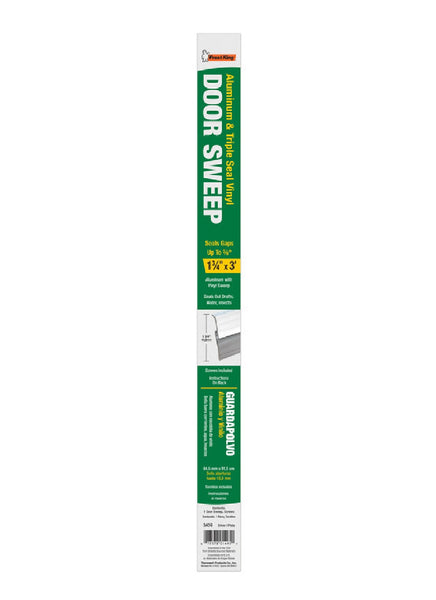 Frost King 3A59 Deluxe Door Bottom Weatherstrip, Aluminum, 36 Inch