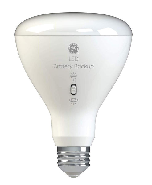 GE Lighting 93100204 BR30 LED+ Battery Backup Light Bulb, 8 Watts