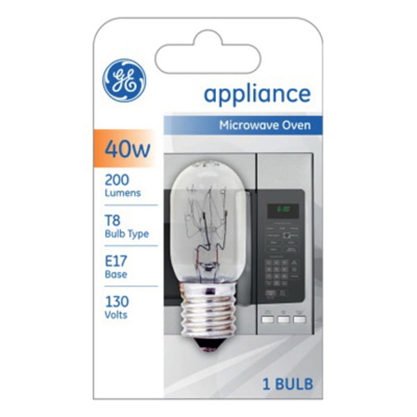 GE 84081 Microwave Appliance LED Bulb, 40 Watts, 130 Volt