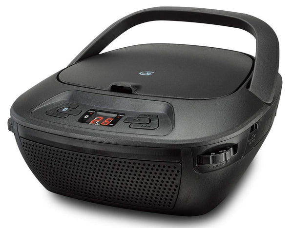 GPX BCB117B Portable Boombox Bluetooth CD Player, Black