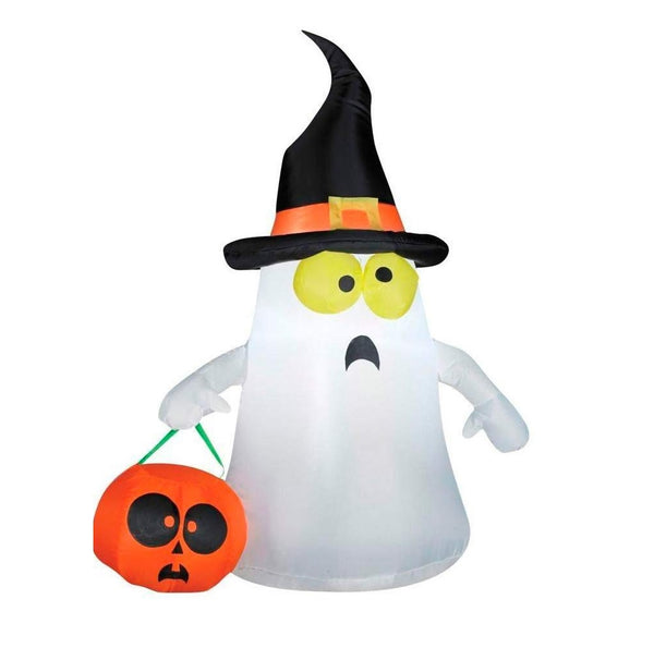 Gemmy 63975 Halloween Airblown Inflatable Ghost In A Witch Hat