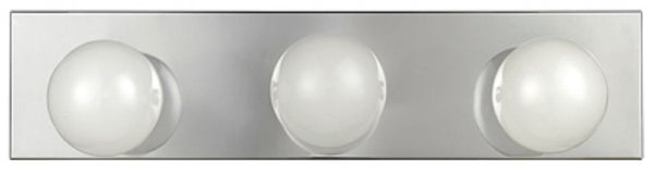 Globe Electric 51202 Vanity Light, Chrome Finish