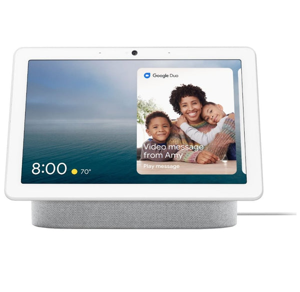 Google GA00426-US Nest Hub Max With Google Assistant, Chalk