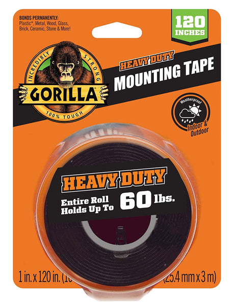 Gorilla 102441 Heavy Duty Double Sided Mounting Tape