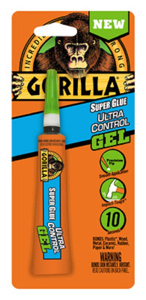 Gorilla 6802502 Ultra Control Super Glue Gel, 15 Gram