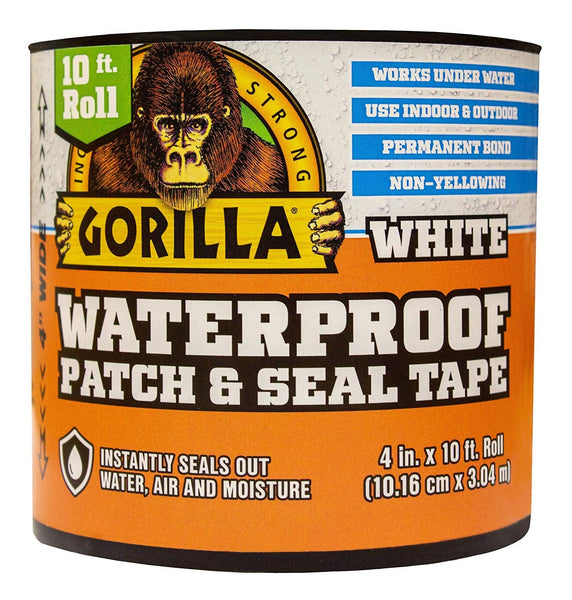 Gorilla 101895 Waterproof Patch & Seal Tape, White
