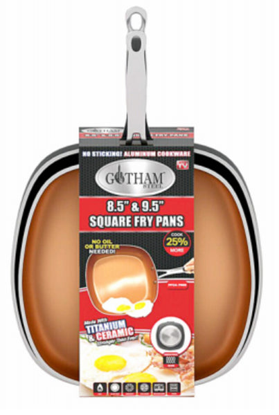 Gotham Steel 1737 As Seen On TV Square Frying Pans