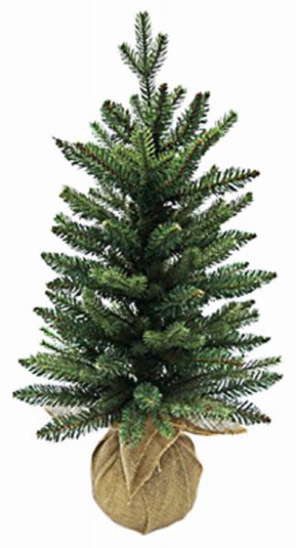 Greenfields Christmas Tree BRHO750011TV2 Unlit Mixed PE Burlap Tree