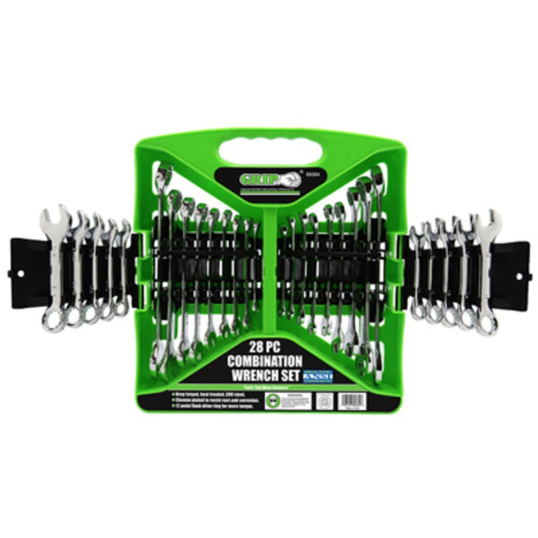Grip On Tools 89364 Combination Wrench Set, 28 Piece