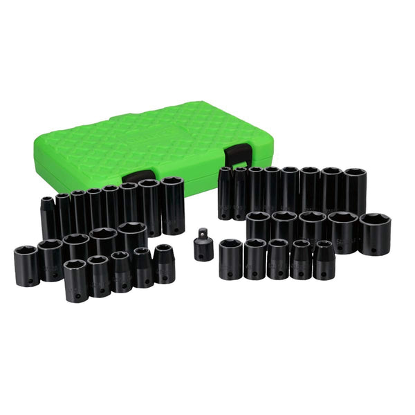 Grip On Tools 73600 SAE & Metric Deep Impact Socket Set, 38 Piece
