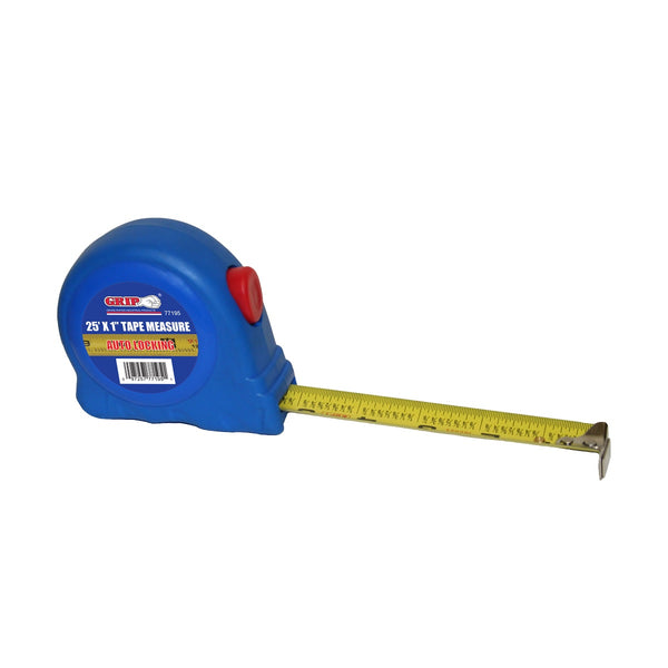 Grip On Tools 77195 Tape Measurer, 25 Feet x 1 Inch