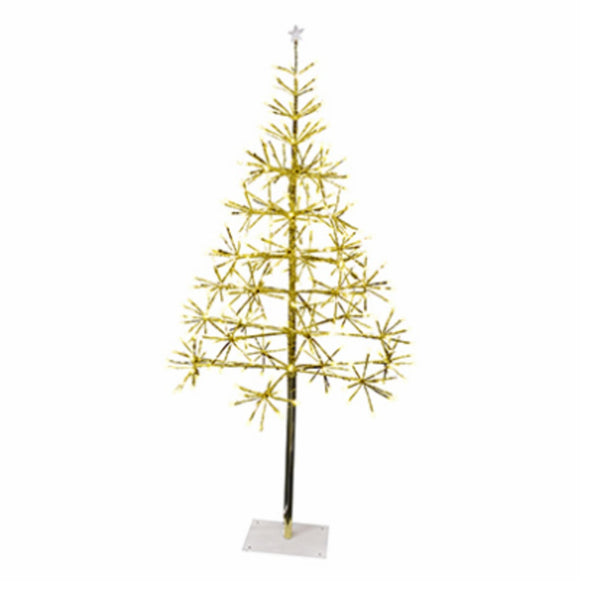 Holiday Bright Lights LEDBTR35GWWTW Christmas LED Light Burst Gold Tree