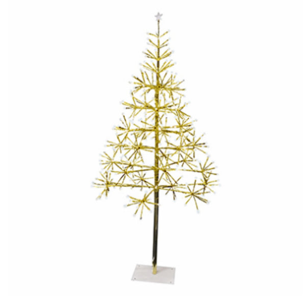Holiday Bright Lights LEDLBTR25GPWTW Christmas LED Light Burst Gold Tree