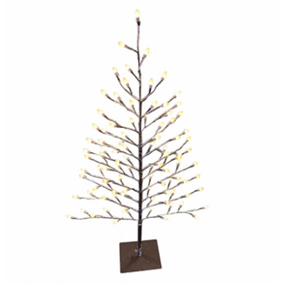 Holiday Bright Lights LED35STK96WW Christmas LED Flat Stick Snow Covered Tree