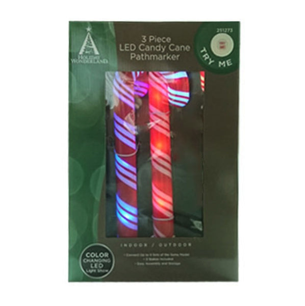 Holiday Wonderland 48-562-55 Christmas Color Changing Snow Path Markers