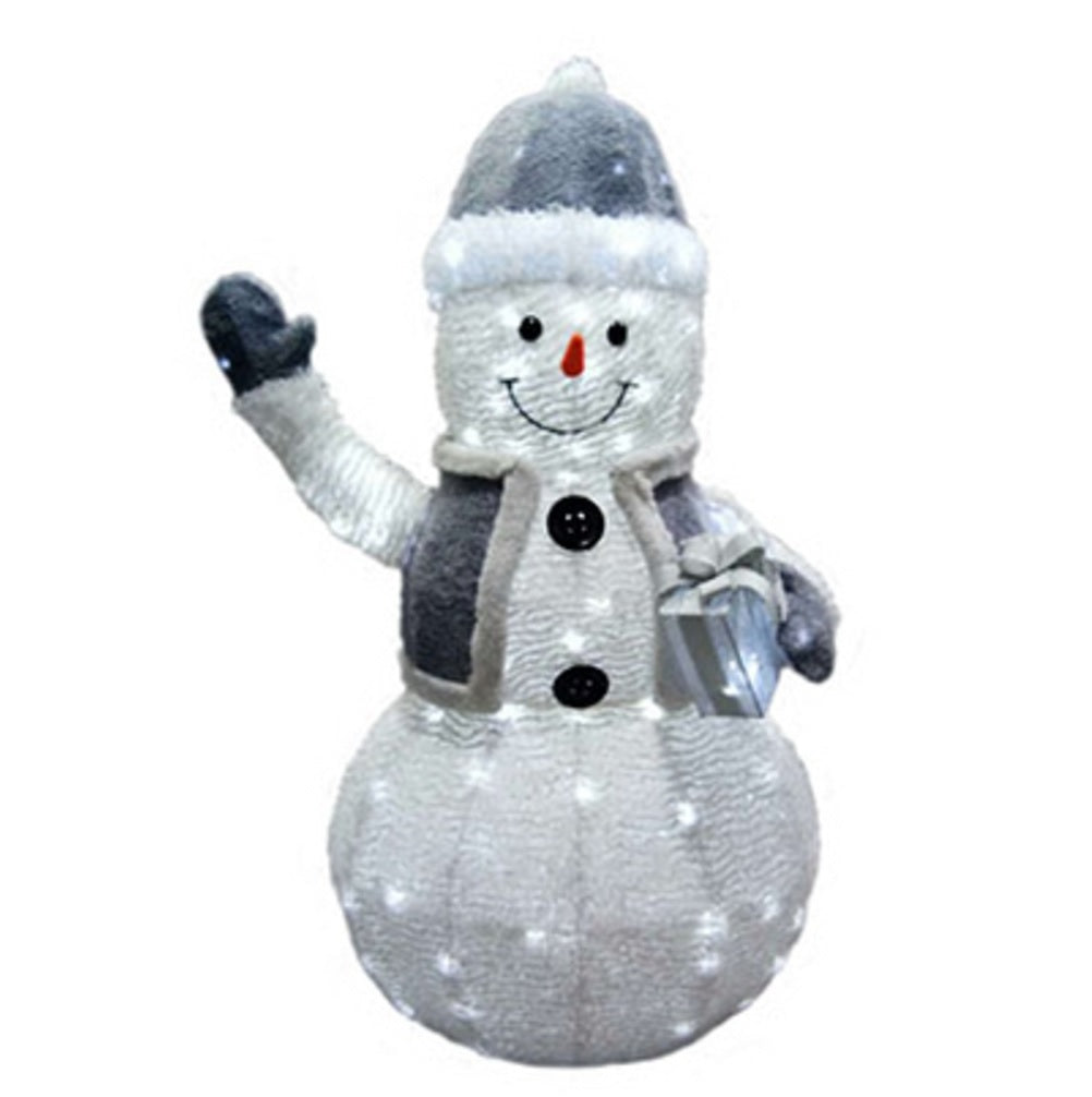 Holiday Wonderland 53069-88 Christmas Twinkling LED Snowman, 50 inch