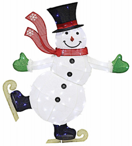 Holiday Wonderland 75-DE9220L Skating Snowman Outdoor Decoration, 54 Inch