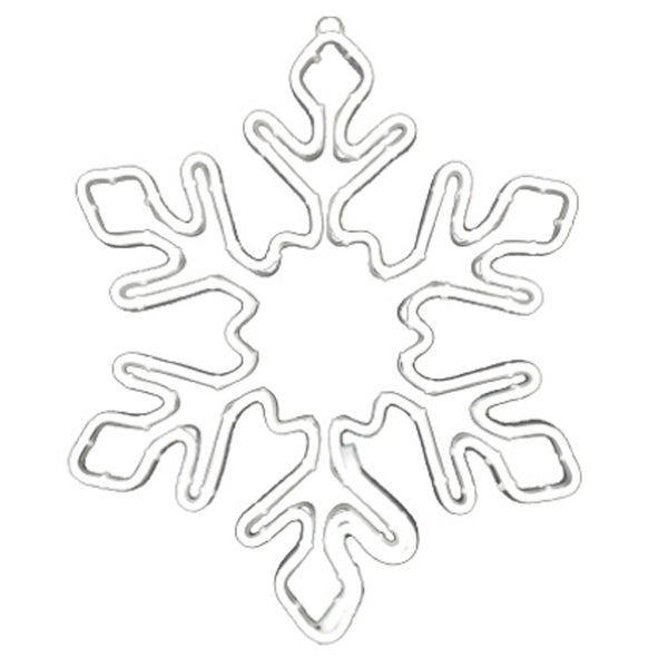 Holiday Wonderland DSNXMDG0255 Christmas LED Snowflake Window Decoration, White