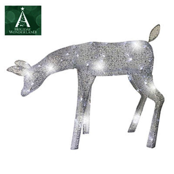 Holiday Wonderland 46-367-55 LED Elegant Morphing Feeding Doe Deer, 39 Inch