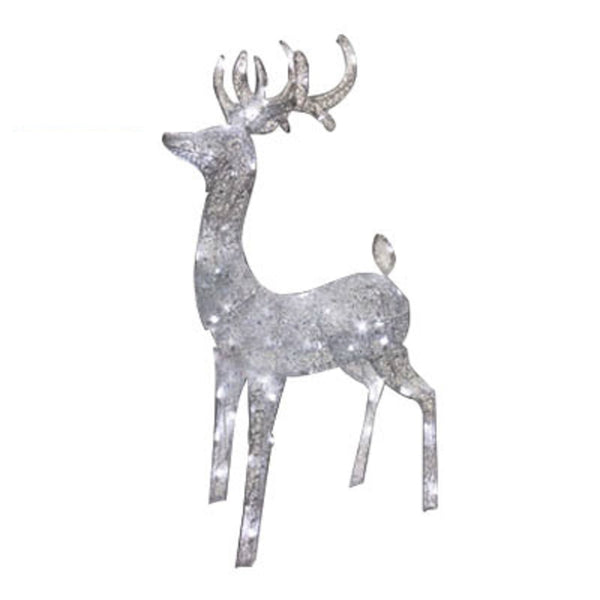 Holiday Wonderland 46-353-55 LED Silver Elegant Morphing Buck Deer