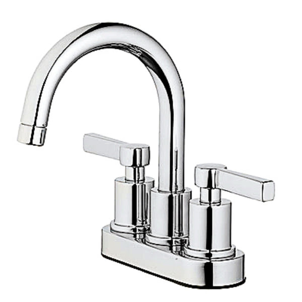 Homewerks 67703W-6101 2 Handle Mid Arch Lavatory Faucet, Chrome Finish