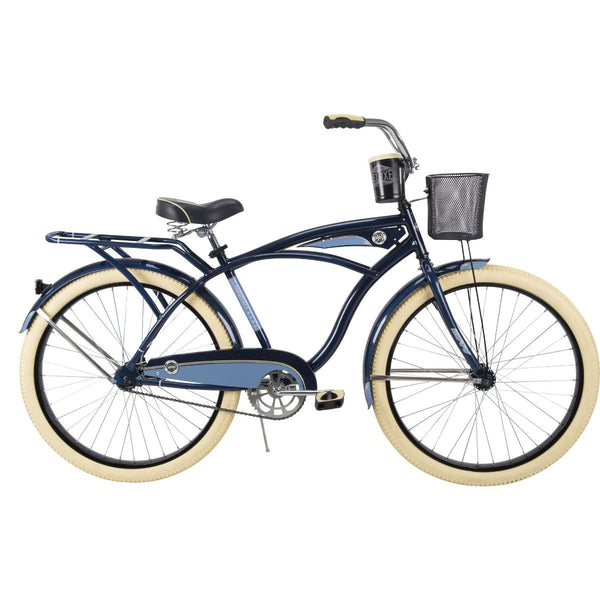Huffy 26649 Men's Deluxe Cruiser Bicycle, Midnight Blue