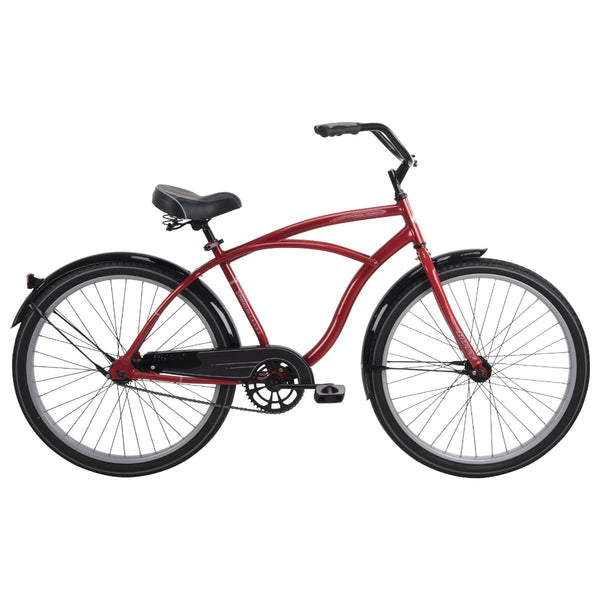 Huffy 26629 Men's Good Vibration Cruiser Bicycle, Dark Red