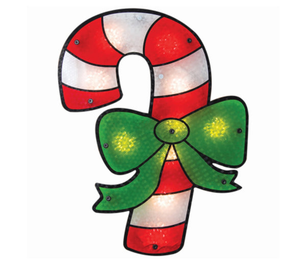 IG Design 91320D Christmas Lighted Candy Cane