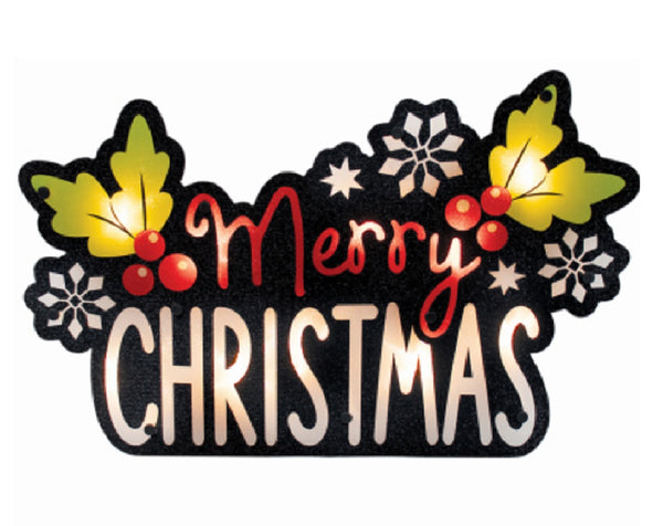 IG Design 95513D Lighted Shimmer Merry Christmas Sign