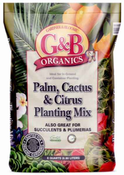 Kellogg 8732 G&B Organics Palm, Cactus & Citrus Planting Mix, 8 Quart