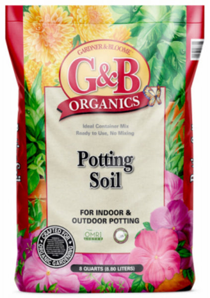 Kellogg 8730 G&B Organics Potting Soil, 8 Quart