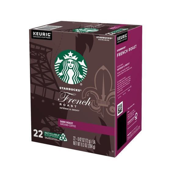 Keurig 5000346312 Starbucks French Dark Roast Coffee K-Cups