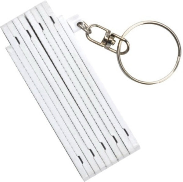 KeyGear 50-KEY0038-10 Folding Ruler Key Chain, White