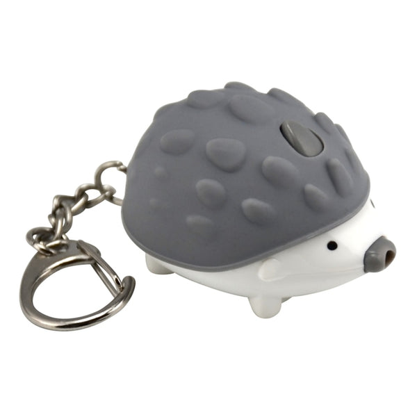 KeyGear 50-KEY0125 Hedgehog Light Key Chain, Gray/White
