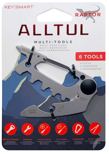 KeySmart KS824-SS-RPT Alltul Multitool Raptor Key, Stainless Steel